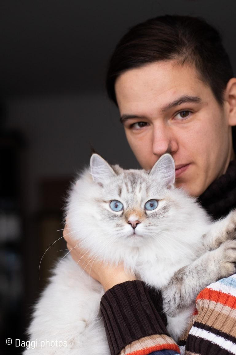 Katze und Frauchen